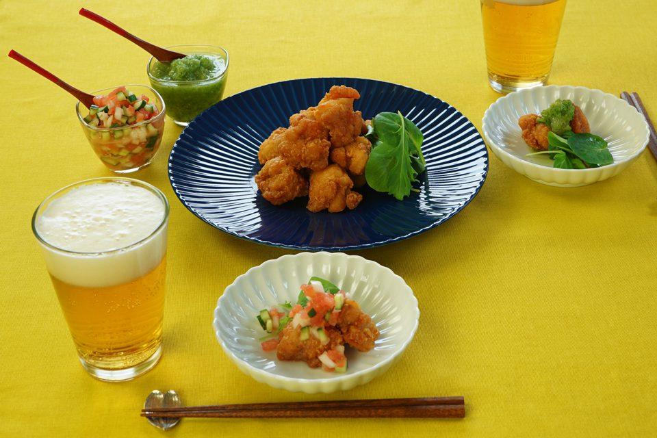 野菜ディップと、初夏の太陽と、ジューシーな唐揚げ!【F.F.F.style④】