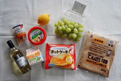 冷凍ホットケーキと材料