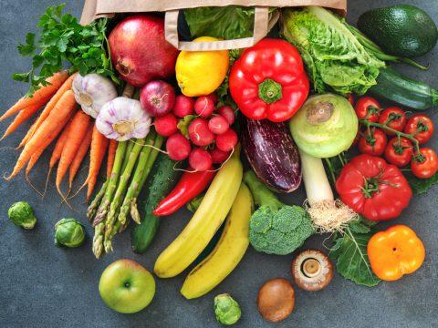豊富な野菜・フルーツ